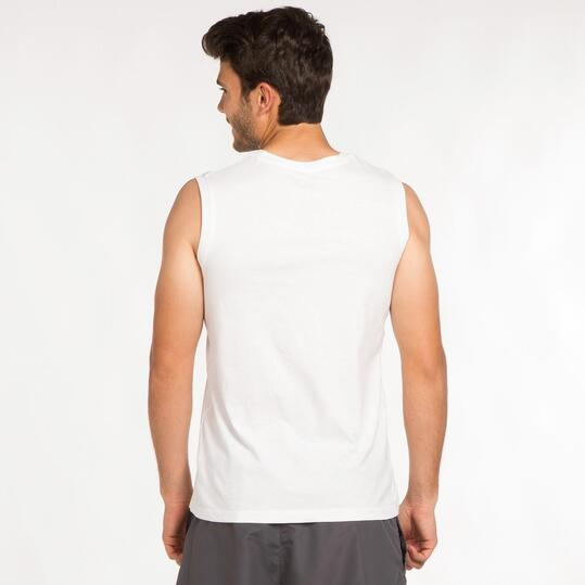 Camiseta Sin Manga UP BASIC Blanca Hombre