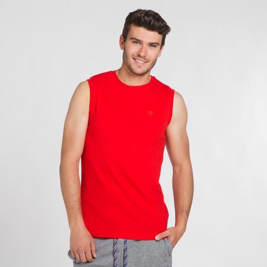 Camiseta Sin Manga UP BASIC Rojo Hombre