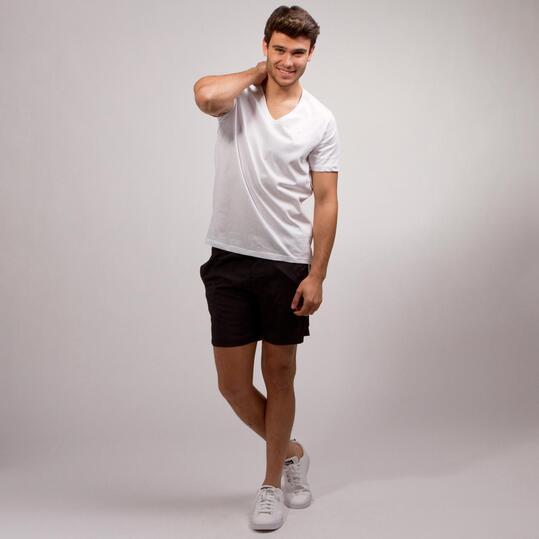 Camiseta Pico UP BASIC Blanca Hombre