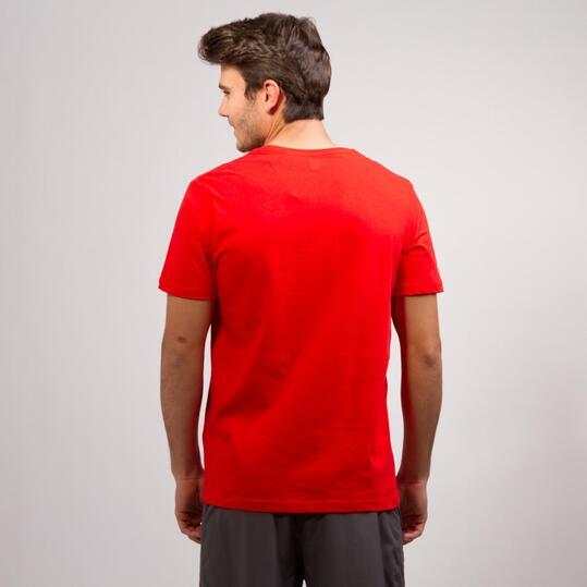 Camiseta Pico UP BASIC Roja Hombre