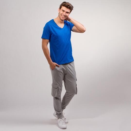 Camiseta Pico UP BASIC Azul Hombre