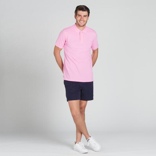 Polo Manga Corta UP BASIC Rosa Hombre