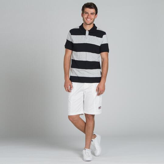 Polo Rayas UP BASIC Gris Hombre