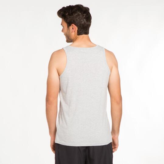 Camiseta Tirante Ancho UP STAMPS Gris Claro Hombre
