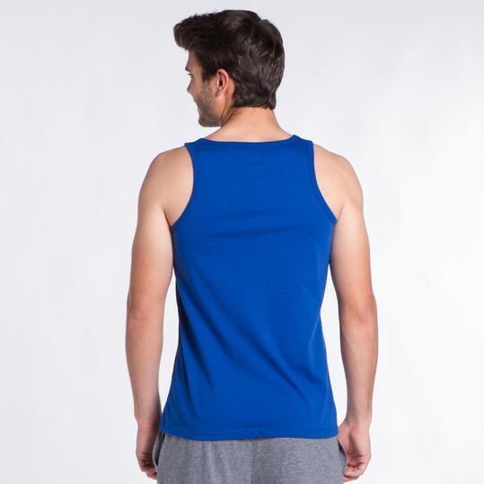 Camiseta Tirante Ancho UP STAMPS Azul Hombre