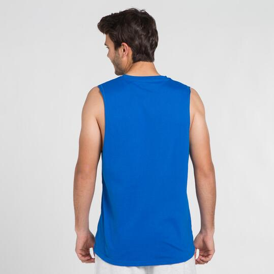 Camiseta Sin Mangas UP STAMPS Azul Hombre