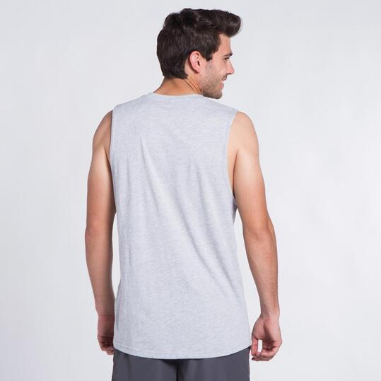 Camiseta Sin Mangas UP STAMPS Gris Hombre