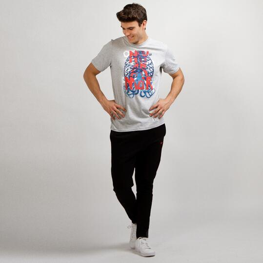 Camiseta Casual UP STAMPS Gris Hombre