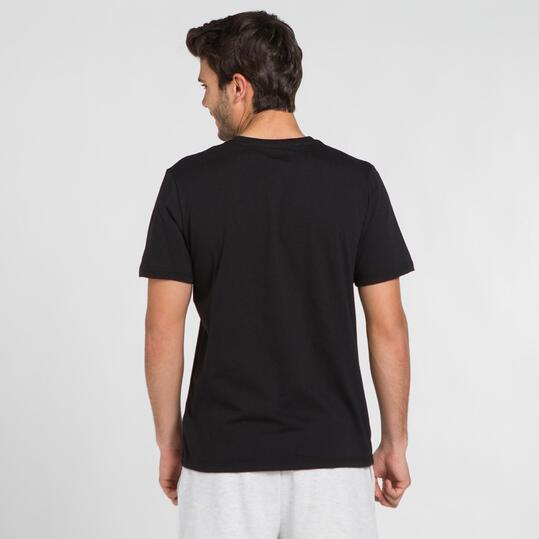 Camiseta Negra SILVER STAMPS Hombre