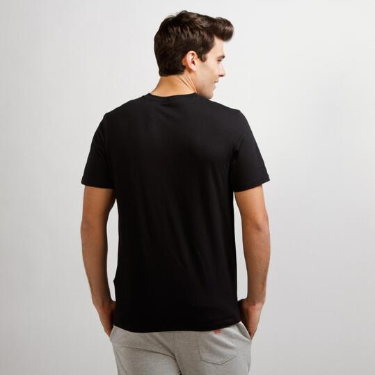 Camiseta Casual UP STAMPS Negro Hombre