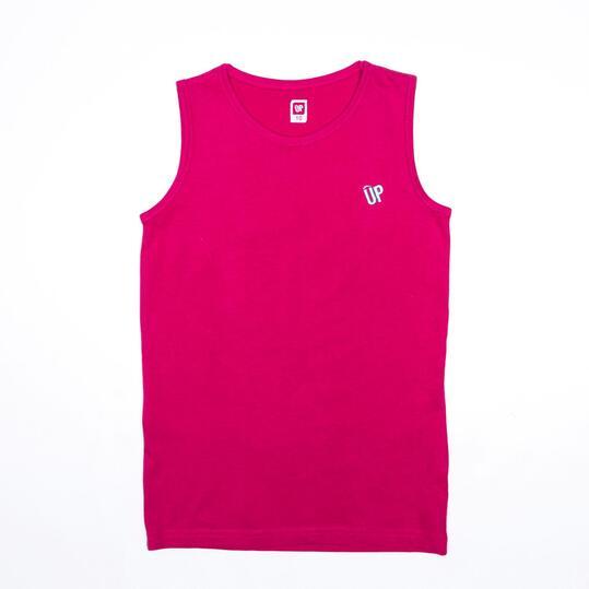 Camiseta Sin Mangas UP BASICS Fucsia (10-16)