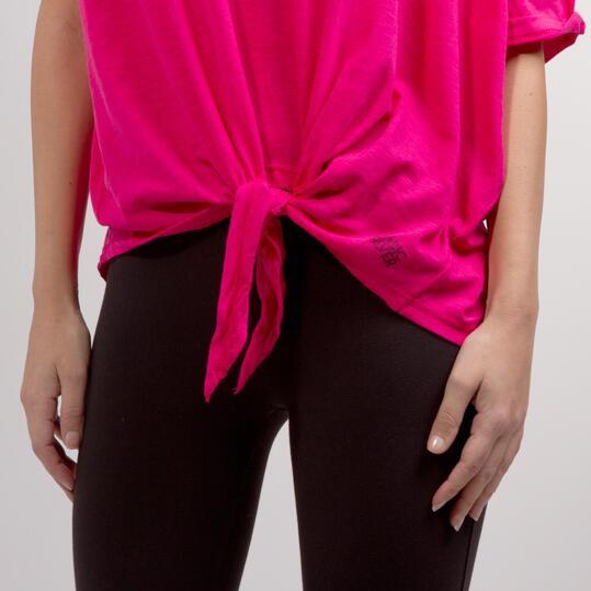 Camiseta Nudo Cintura SILVER BASIC Fucsia Mujer