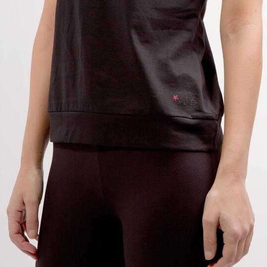 Camiseta Doble SILVER BASIC Negro Fucsia Mujer