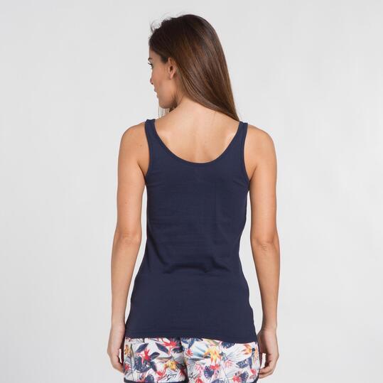 Camiseta Tirantes UP BASIC Marino Mujer