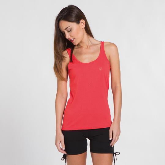 Camiseta Tirantes UP BASIC Rojo Mujer