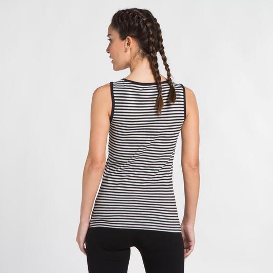 Camiseta Tirantes UP BASIC Negro Mujer