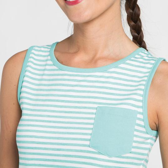 Camiseta Tirantes UP BASIC Turquesa Mujer