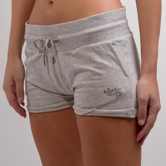 Pantalón Corto SILVER BASIC Gris Mujer