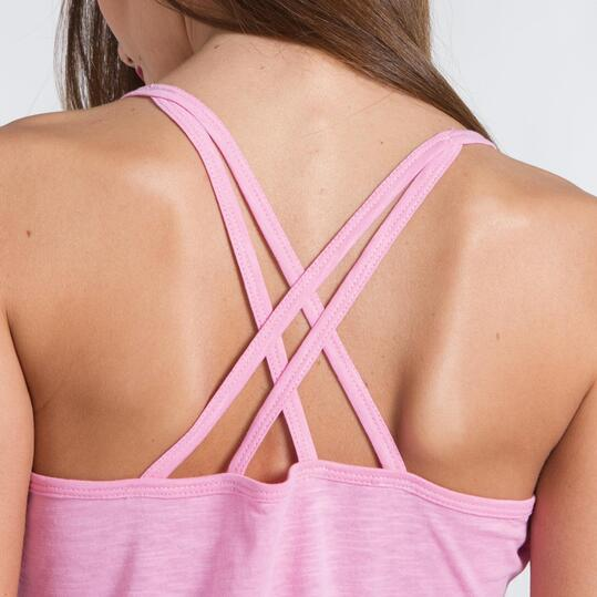Camiseta Tirante Cruzado SILVER Rosa Mujer