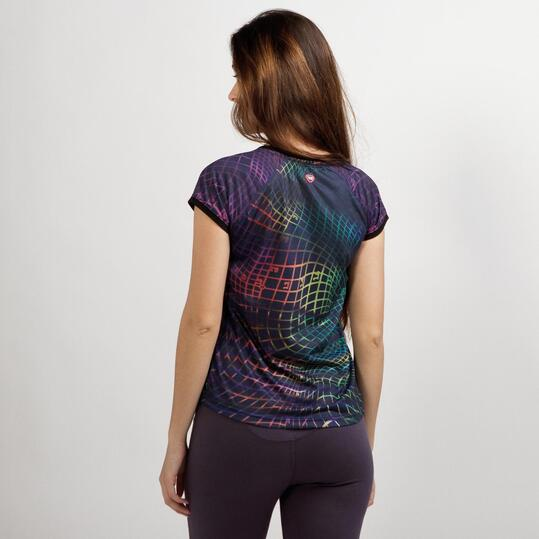 Camiseta Casual UP STAMPS Marino Mujer