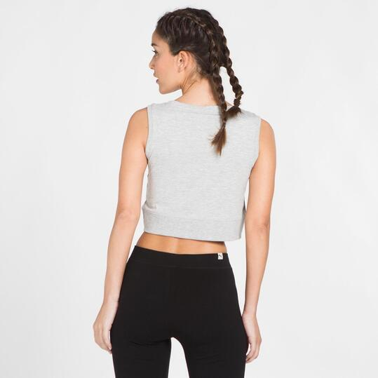 Crop Top SILVER Gris Mujer