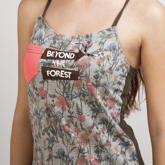 Camiseta Tirantes SILVER LIBERTY Rosa Mujer