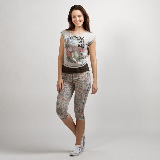 Camiseta Gris SILVER LIBERTY Gris Mujer