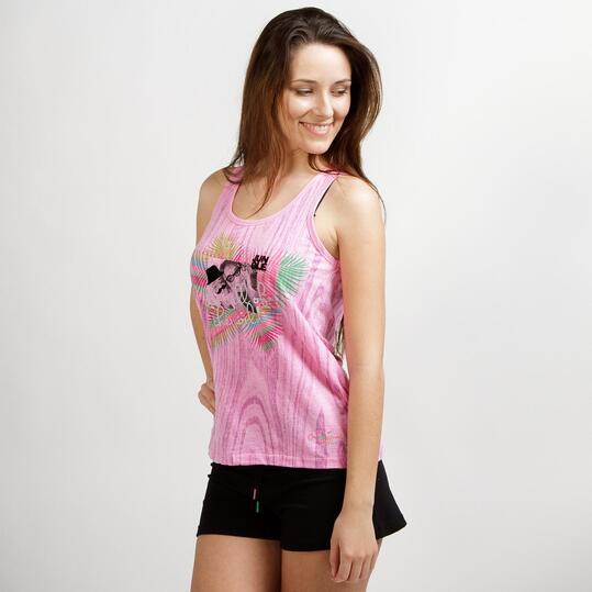 Camiseta Tirantes SILVER SELVA Rosa Mujer