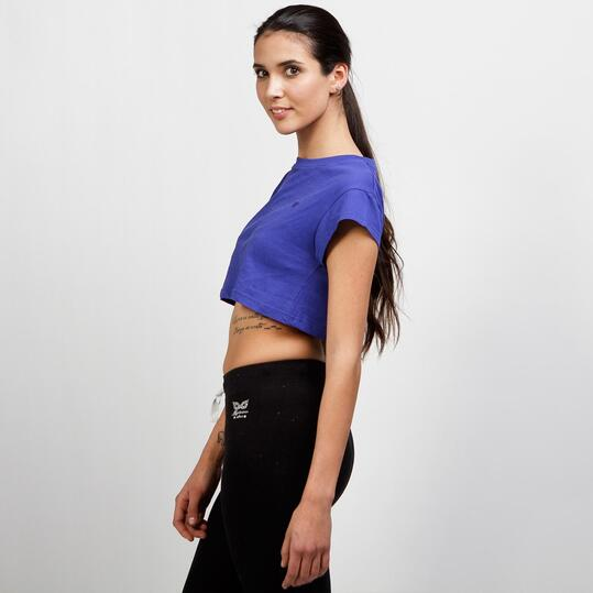 Top Crop Azul UP BASIC Mujer