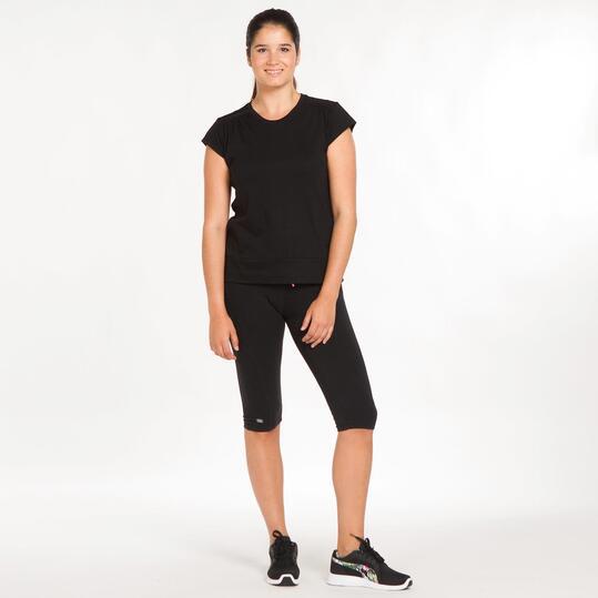 Camiseta Talla Grande SILVER Negro Mujer