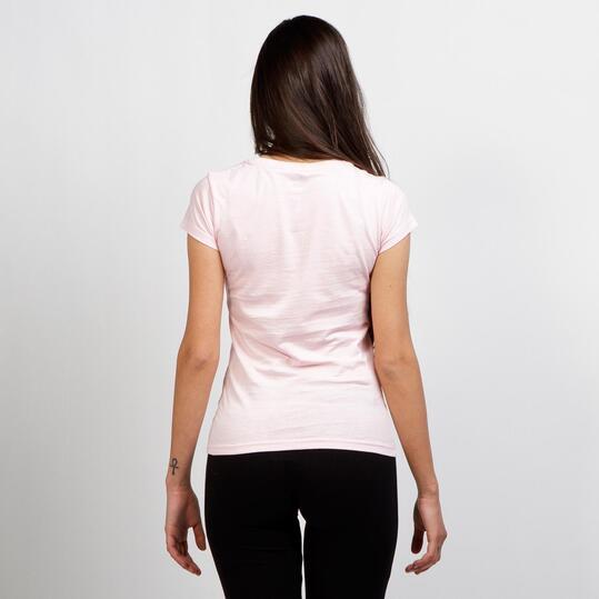 Camiseta Cuello Pico UP BASIC Rosa Mujer