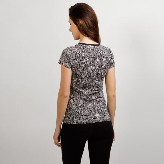 Camiseta Estampada UP BASIC Gris Mujer