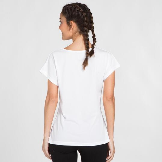 Camiseta Blanca Microperforada UP BASIC Mujer