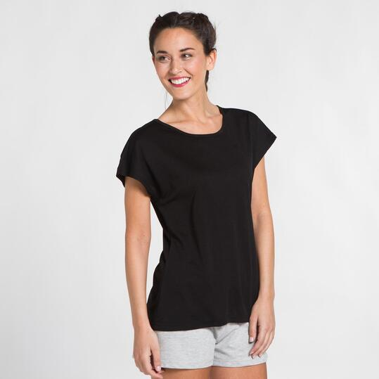 Camiseta Negra Microperforada UP BASIC Mujer