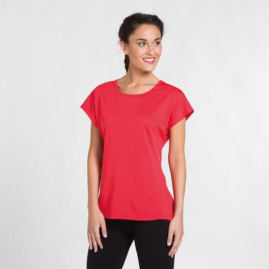 Camiseta Roja Microperforada UP BASIC Mujer