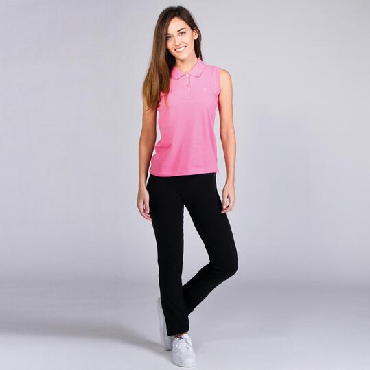 Polo Sin Mangas UP STAMPS Rosa Chicle Mujer