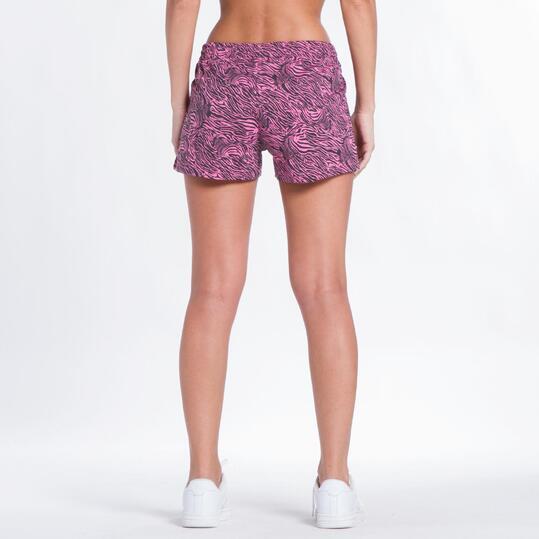 Pantalón Corto UP BASIC Estampado Rosa Mujer