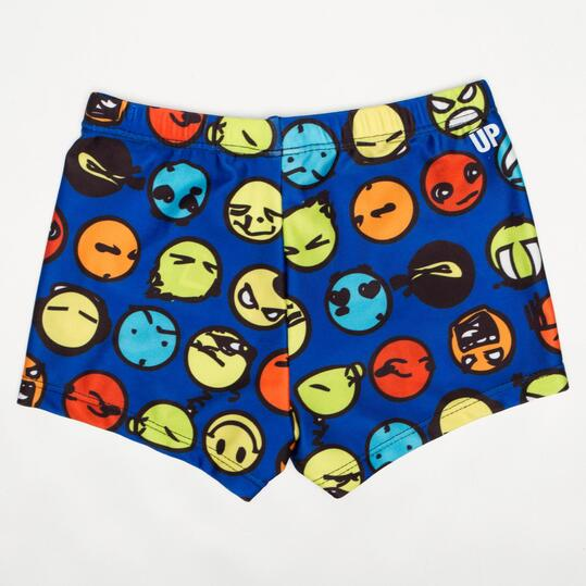 Bañador Bóxer UP SWIM Emoticonos Niño (2-8)