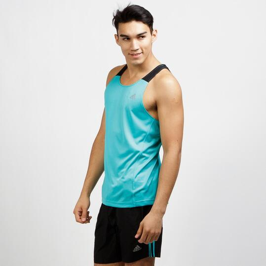ADIDAS ABOS Camiseta Tirantes Running Turquesa Hombre