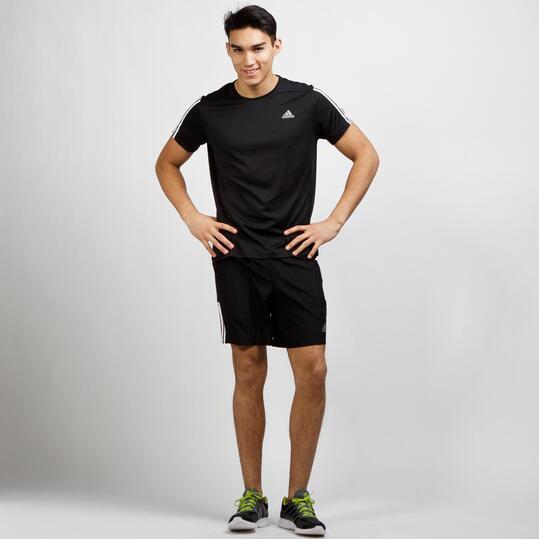 ADIDAS ABOS Camiseta Running Negra Hombre