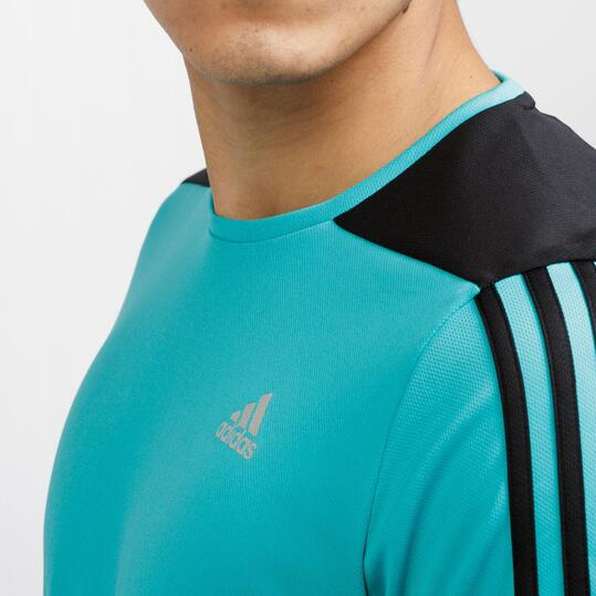 ADIDAS ABOS Camiseta Running Turquesa Hombre