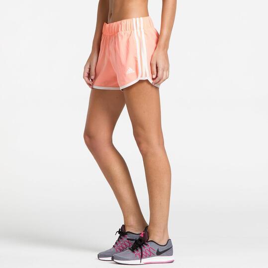 ADIDAS M10 WOVEN Pantalón Corto Running Rosa Mujer