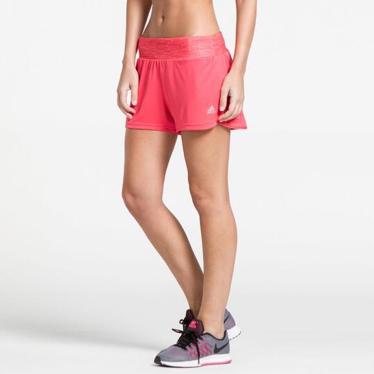 ADIDAS GRETE Pantalón Corto Running Rojo Mujer