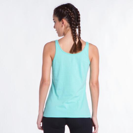 Camiseta Tirantes UP STAMPS Turquesa Mujer