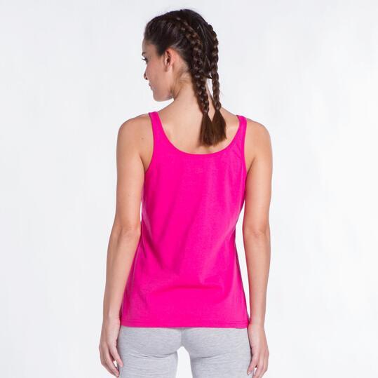 Camiseta Tirantes Fucsia UP STAMPS Mujer