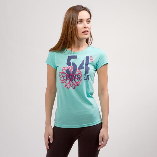 Camiseta Helado UP BASIC Turquesa Mujer