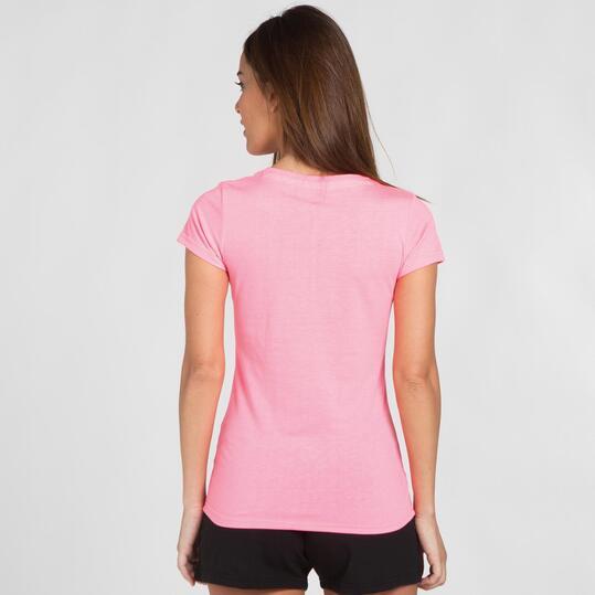 Camiseta Manga Corta UP STAMPS Rosa Mujer
