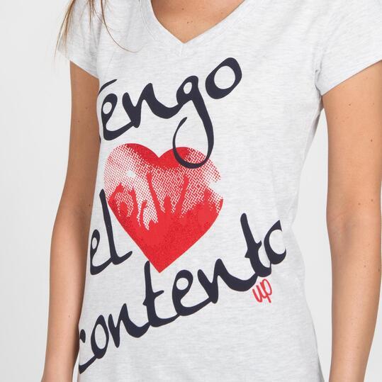 Camiseta Manga Corta UP STAMPS Blanco Mujer