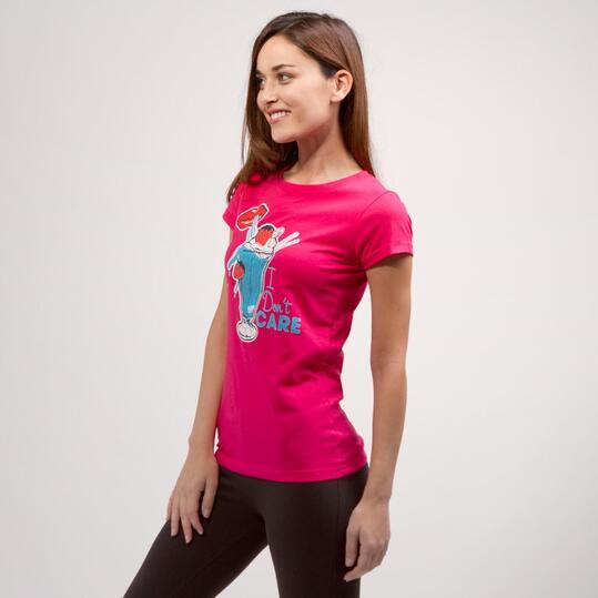 Camiseta Helado UP BASIC Fucsia Mujer