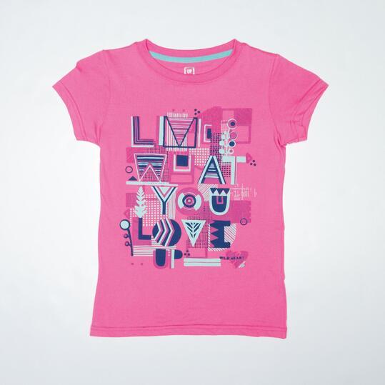 Camiseta Casual UP STAMPS Fucsia Niña (10-16)